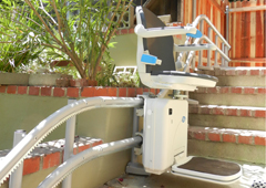 2000 Outdoor - curved stairlift